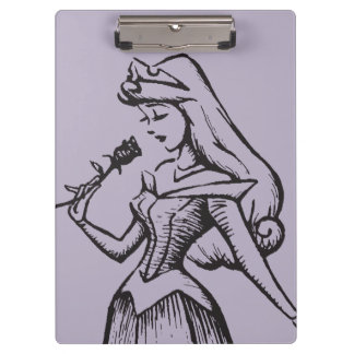 Sleeping Beauty | Aurora - Vintage Rose Clipboard