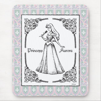 Sleeping Beauty | Aurora - Vintage Rose Mouse Pad