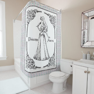 Sleeping Beauty | Aurora - Vintage Rose Shower Curtain