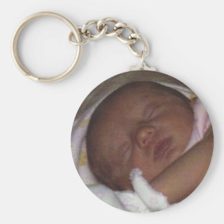 Sleeping Beauty Basic Round Button Key Ring