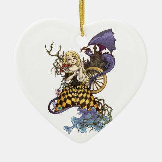 Sleeping Beauty Ceramic Heart Decoration