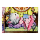 Sleeping Beauty Fairytale Cat - Cute Card