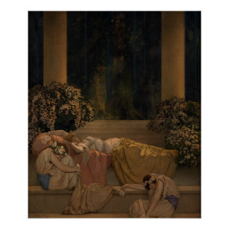 Sleeping Beauty in Wood Poster