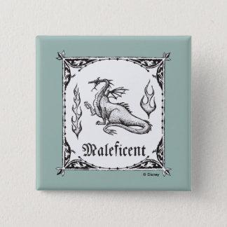 Sleeping Beauty | Maleficent Dragon - Gothic 15 Cm Square Badge