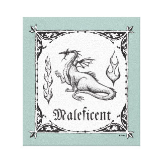 Sleeping Beauty   Maleficent Dragon - Gothic Canvas Print