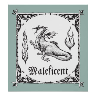 Sleeping Beauty   Maleficent Dragon - Gothic Poster