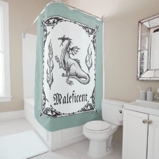 Sleeping Beauty | Maleficent Dragon - Gothic Shower Curtain