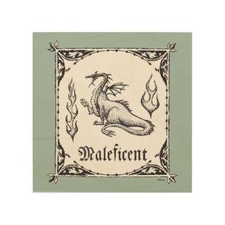 Sleeping Beauty   Maleficent Dragon - Gothic Wood Print