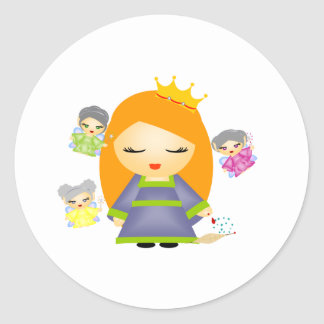Sleeping Beauty Round Sticker