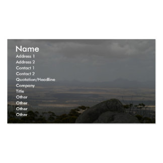 Sleeping Beauty The Stirling Ranges From Castle Ro Business Card Template