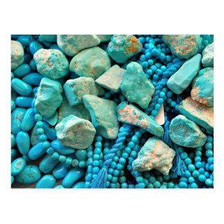 Sleeping Beauty Turquoise Postcard