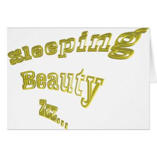Sleeping Beauty ZZZ gold 3DD nice Card
