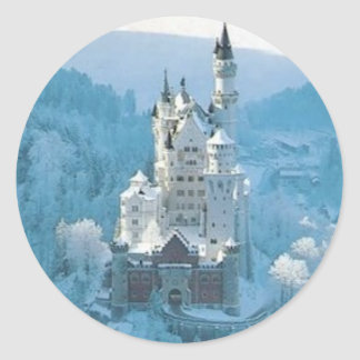 Sleeping Beauty's Castle Classic Round Sticker