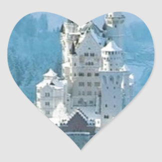 Sleeping Beauty's Castle Heart Sticker