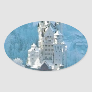 Sleeping Beauty's Castle Oval Sticker