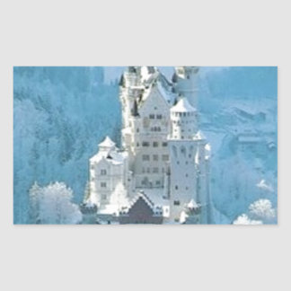 Sleeping Beauty's Castle Rectangular Sticker