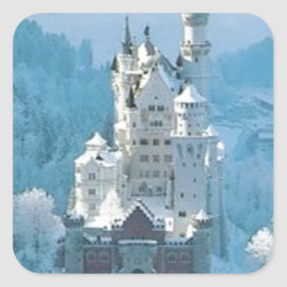 Sleeping Beauty's Castle Square Sticker