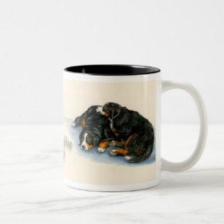 Sleeping Berners Two-Tone Coffee Mug