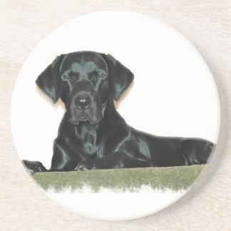 Sleeping Black Labrador Retriever Coasters