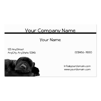 Sleeping Black Puppy Pack Of Standard Business Cards