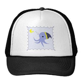 Sleeping Blue Octopus Cap