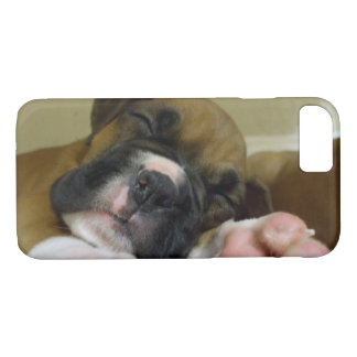 Sleeping boxer puppy iPhone 8/7 case