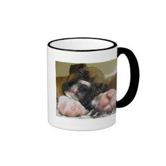 Sleeping Boxer puppy mug