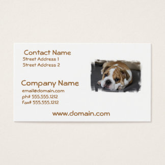 Sleeping Bulldog Business Cards