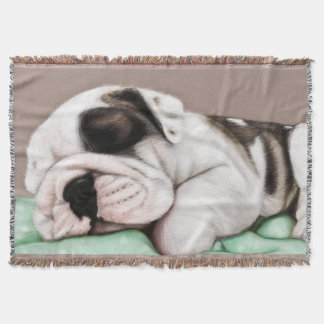 Sleeping Bulldog Puppy