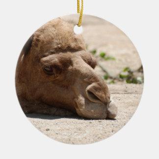 Sleeping Camel Ceramic Ornament