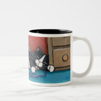 Sleeping Cat and Mice Mug