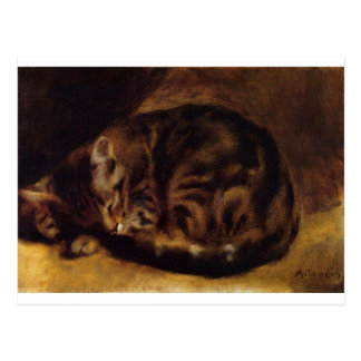 Sleeping Cat by Pierre-Auguste Renoir Postcard