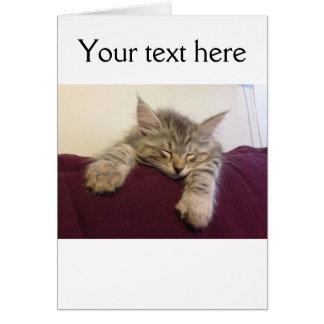Sleeping cat card - customise!