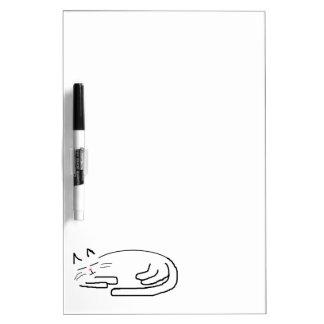 Sleeping Cat Doodle Dry Erase Board