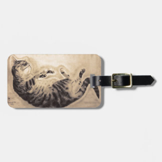 Sleeping Cat Luggage Tag