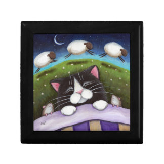 Sleeping Cat & Mice | Fantasy Art Trinket Gift Box