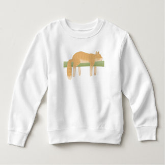 Sleeping Cat Toddler Fleece Sweatshirt