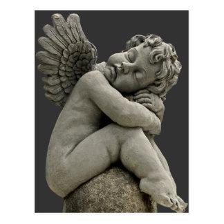 Sleeping Cherub Angel Sculpture Post Card