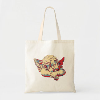 Sleeping cherub tote bag