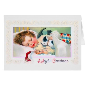 Sleeping Child Christmas Card