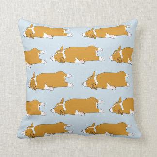 Sleeping Corgi Sploot Pillow