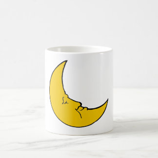 Sleeping Crescent Moon Coffee Mug