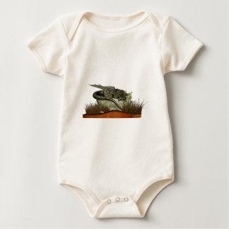 Sleeping Dragon on a Rock Baby Bodysuit