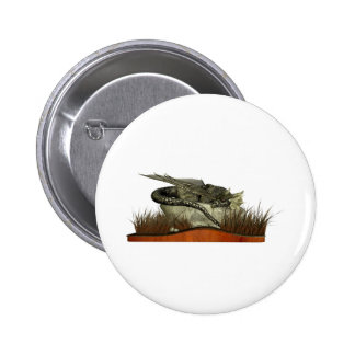 Sleeping Dragon on a Rock Buttons