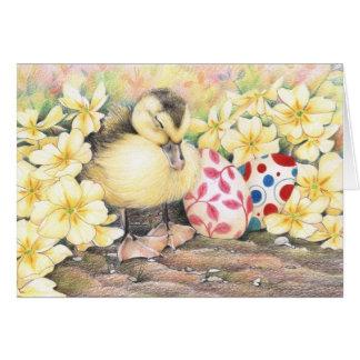 Sleeping Ducky Easter Card