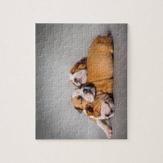 Sleeping English bulldog Jigsaw Puzzle