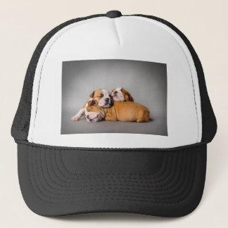 Sleeping English bulldog Trucker Hat