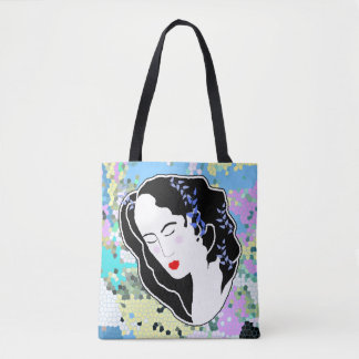 Sleeping Flower Tote Bag