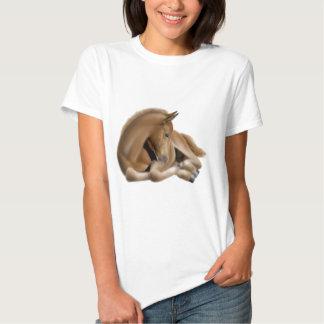 Sleeping Foal Ladies Babydoll Shirt