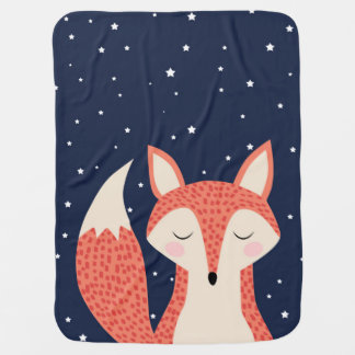 Sleeping fox night stars buggy blanket